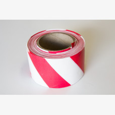Tape 75mm x 100mtr Barrier Tape Red and White