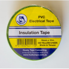 Tape Green & Yellow 18mm x 20mtr