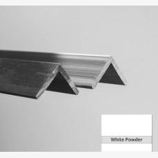 Angle 25mm x 20mm x 3mm x 6.5mtr White