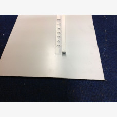 10mm Tile Angle Square Edge 3mtr White