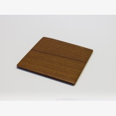 Knotwood End Cap 50mm x 50mm Western Red Cedar Aluminium