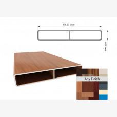 Knotwood Slat 100mm x 16mm x 6Mtrs Woodland Grey Textura