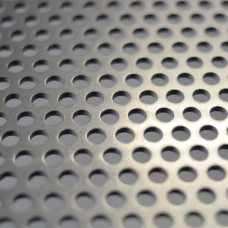 Perforated Mesh Cut Sheet 6.35mm Diameter Holes / Open Area = 40% / 600mm x 1200mm x 3mm Thick